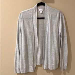 Old Navy Open Front Cardigan Light Gray, xl